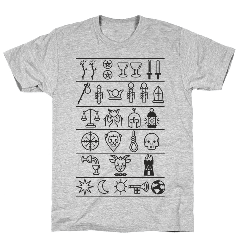 Tarot Card Icons Mens T-Shirt