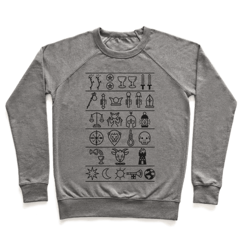 Tarot Card Icons Pullover
