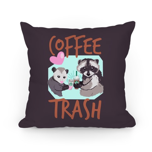 Coffee Trash Pillow