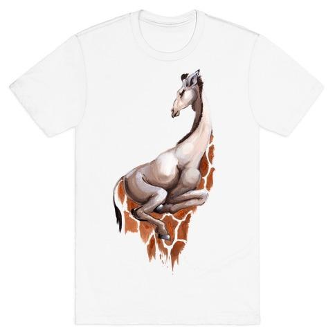 Spot Melt Giraffee Mens T-Shirt