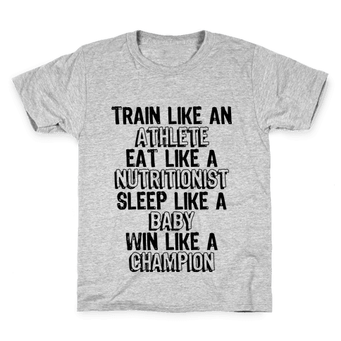 Train, Eat, Sleep, Win Kids T-Shirt