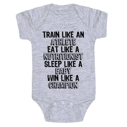 Train, Eat, Sleep, Win Baby Onesy