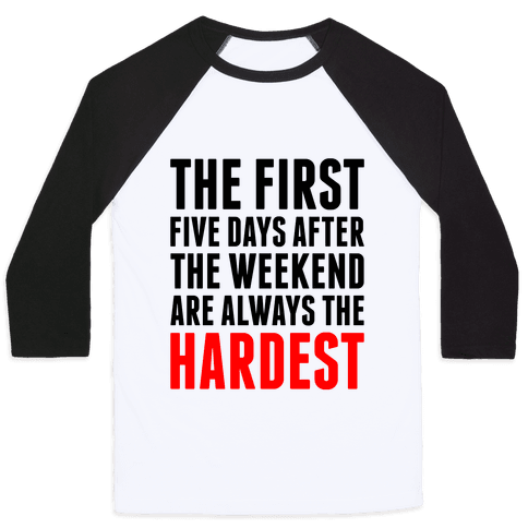 The First Five Days Baseball Tee