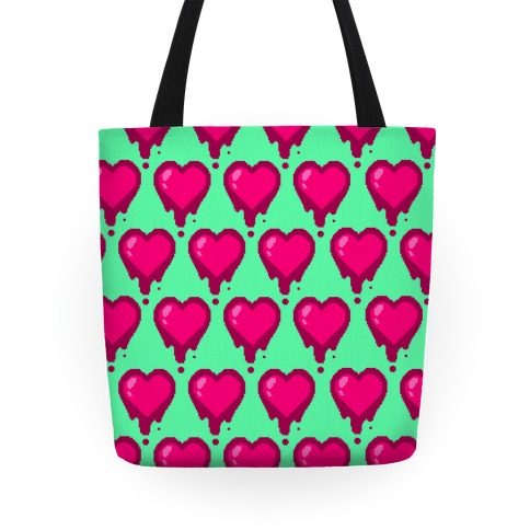 Bleeding Heart (Mint) Tote
