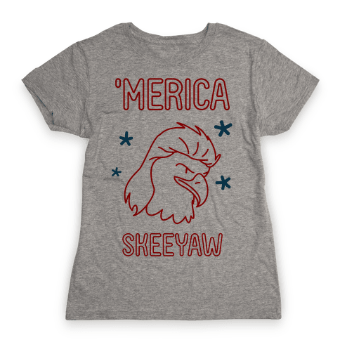 'Merican Eagle Womens T-Shirt
