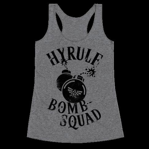 Hyrule Bomb Squad Racerback Tank Top