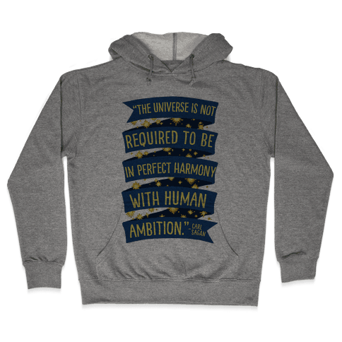 The Universe Is Not Required To Be In Harmony With Human Ambition Hooded Sweatshirt