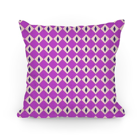 Purple Diamond Eyes Pattern Pillow