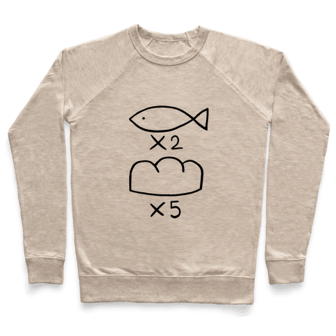 Saint Young Men Fish and Bread Pullover
