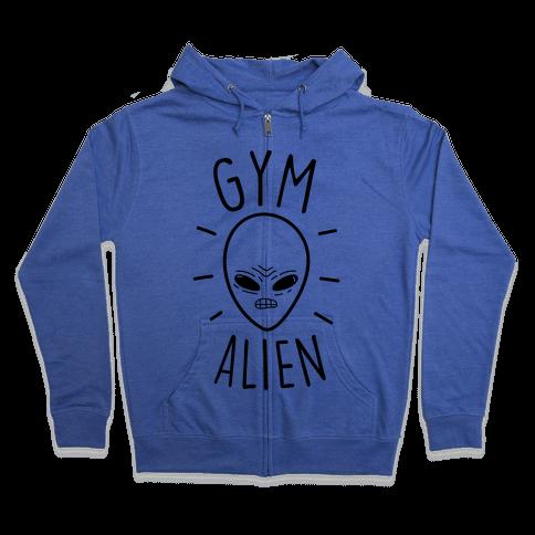 Gym Alien Zip Hoodie