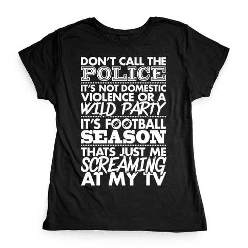 Football Season Womens T-Shirt
