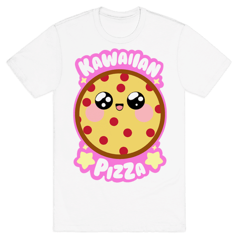Kawaiian Pizza Mens T-Shirt