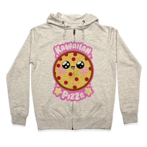Kawaiian Pizza Zip Hoodie
