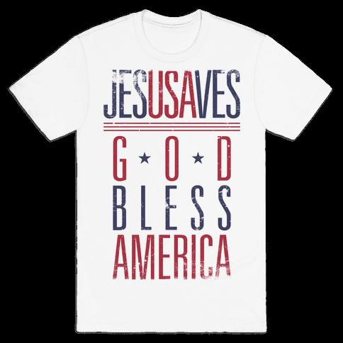 JESUSAVES Mens T-Shirt