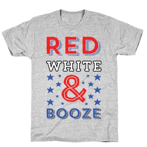 Red White & Booze Mens/Unisex T-Shirt