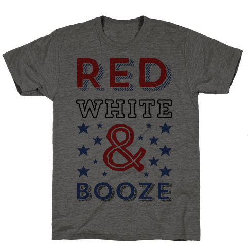 Red White & Booze Mens T-Shirt