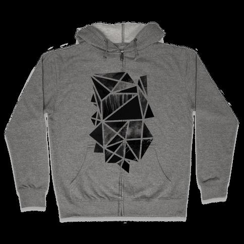 Geometric Collage Zip Hoodie