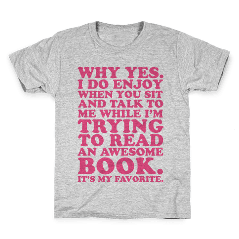 I'm Trying to Read an Awesome Book - Sarcastic Book Lover Kids T-Shirt