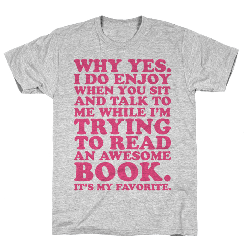 I'm Trying to Read an Awesome Book - Sarcastic Book Lover Mens T-Shirt