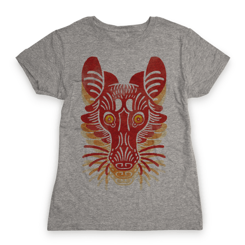 Symmetrical Gilded Fox Womens T-Shirt