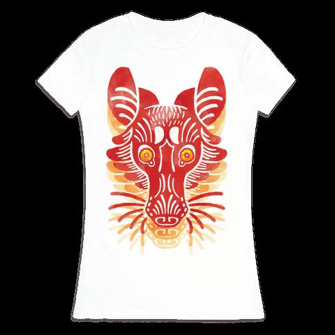 Symmetrical Gilded Fox Womens T-Shirt