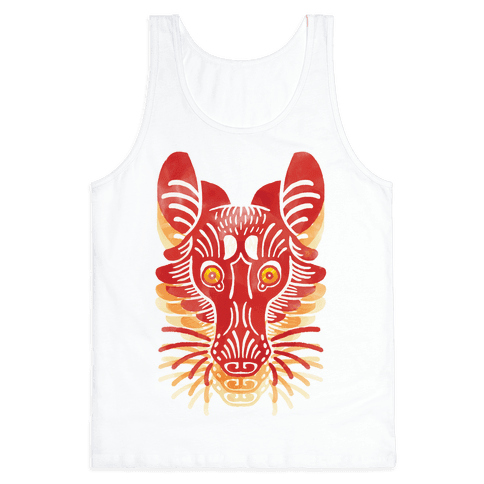 Symmetrical Gilded Fox Tank Top