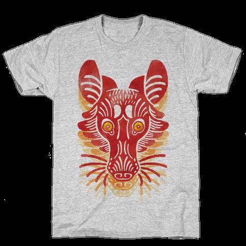 Symmetrical Gilded Fox Mens T-Shirt