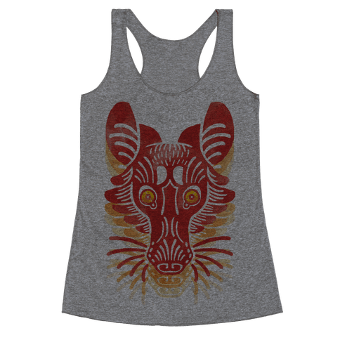 Symmetrical Gilded Fox Racerback Tank Top