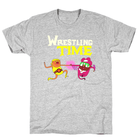 Wrestling Time Mens T-Shirt