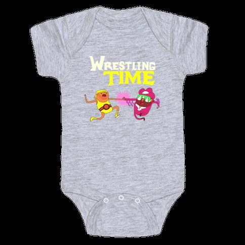 Wrestling Time Baby Onesy