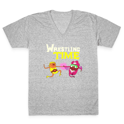 Wrestling Time V-Neck Tee Shirt