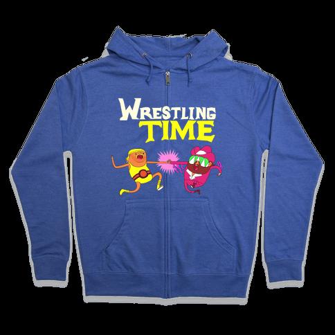 Wrestling Time Zip Hoodie