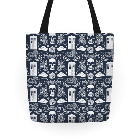 SuperWhoLock Pattern Tote