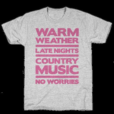 Warm Weather No Worries Mens T-Shirt