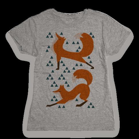 Fox Yoga Womens T-Shirt