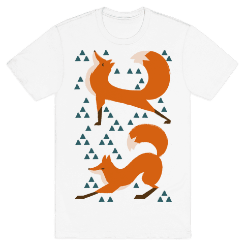 Fox Yoga Mens T-Shirt