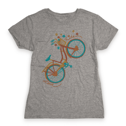 Love Your Ride: Colorful Bicycle Womens T-Shirt