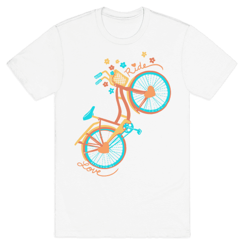Love Your Ride: Colorful Bicycle Mens T-Shirt