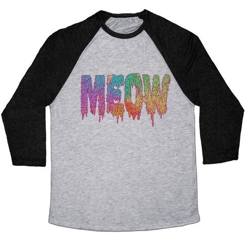 Meow Melt Baseball Tee