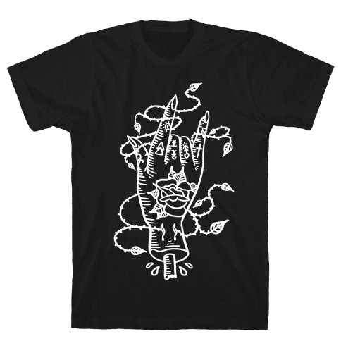 Rock On (Traditional Tattoo) Mens T-Shirt