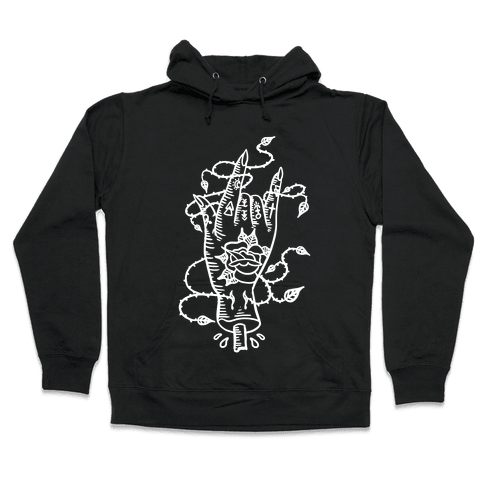 Rock On (Traditional Tattoo) Hooded Sweatshirt