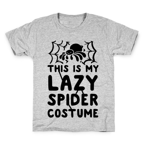 This is My Lazy Spider Costume Kids T-Shirt