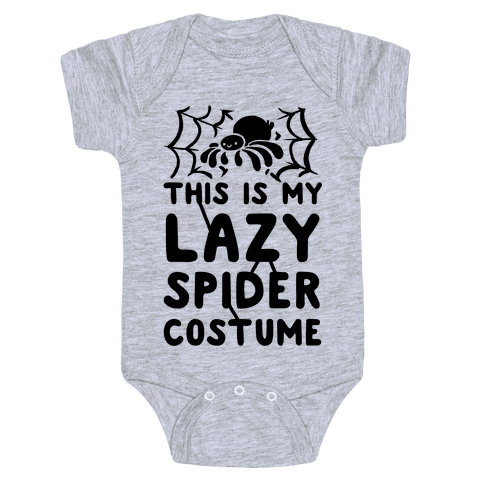 This is My Lazy Spider Costume Baby Onesy