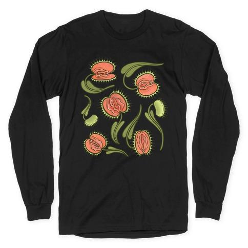 Venus Flytrap Vulvas Long Sleeve T-Shirt