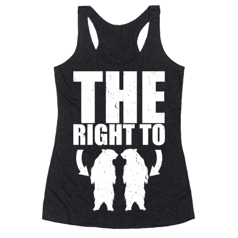 The Right to Bear Arms Racerback Tank Top