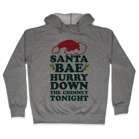 Santa Bae Hurry Down The Chimney Tonight Hooded Sweatshirt