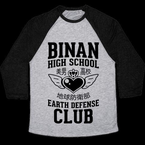 Binan High School Earth Defense Club Baseball Tee