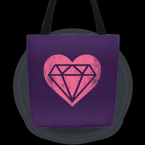 Diamond Heart Tote