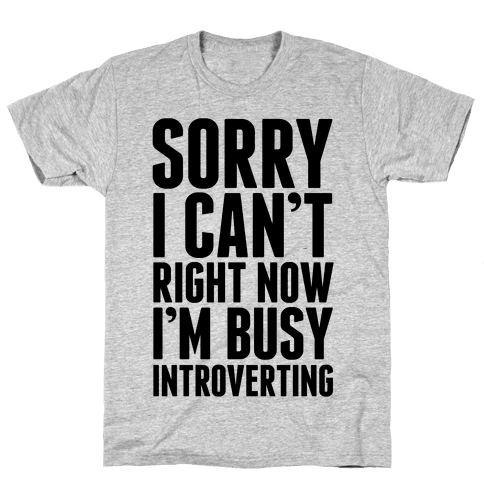 Sorry I Can't Right Now I'm Busy Introverting Mens T-Shirt