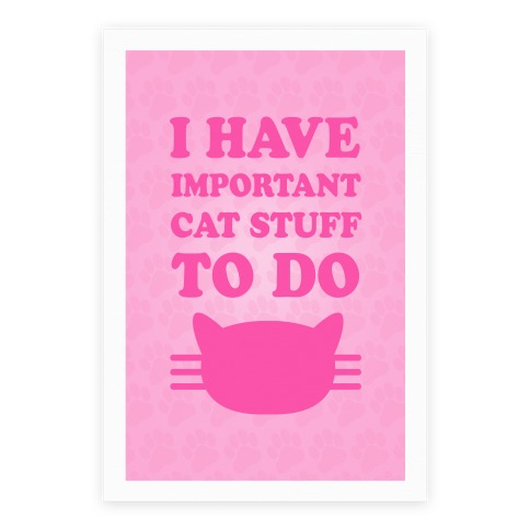 I Have Important Cat Stuff To Do Poster